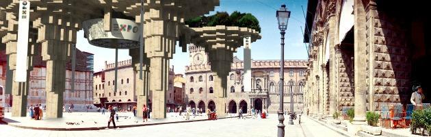 """L'Expo invade Bologna: Piazza Maggiore """"occupata"""" dalla mega installazione (gallery)"""