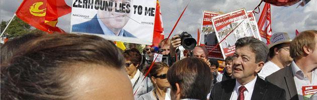 La manifestazione contro Hollande del Front de gauche