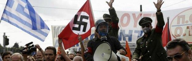 Proteste ad Atene contro la Merkel