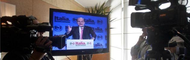 """Centrosinistra, Bersani: """"Di Pietro? Mi pare che fin qui sia fuori. No a Rutelli"""""""