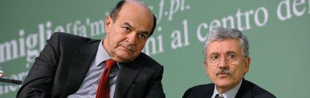 """Pd, Bersani: """"Non chiederò a D'Alema di ricandidarsi"""". E lui: """"Decide il partito"""""""
