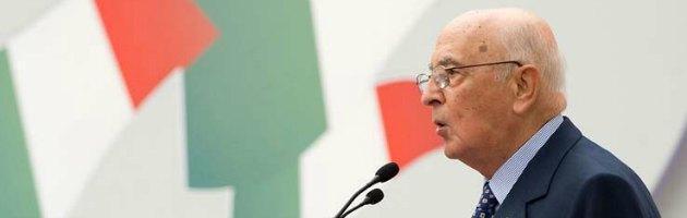 """Legge elettorale, Napolitano: """"Basta con giochi degli equivoci e braccio di ferro"""""""