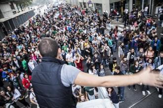 Corteo degli studenti a Milano