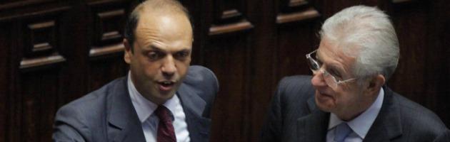 """Pdl, Alfano chiude al Monti bis: """"Impossibile collaborare con Bersani"""""""