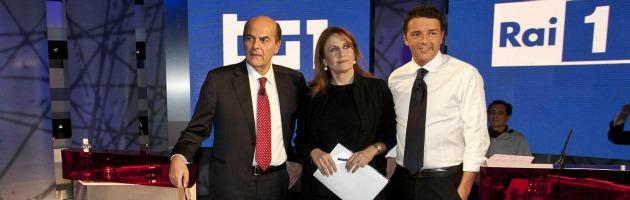 Primarie, confronto tv Renzi-Bersani: il sindaco parla da segretario del Pd