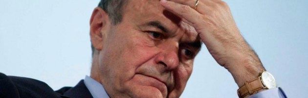 """Cagliari, Bersani contestato dagli operai Alcoa: """"Traditore"""""""