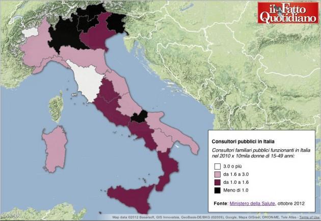 Consultori pubblici in Italia
