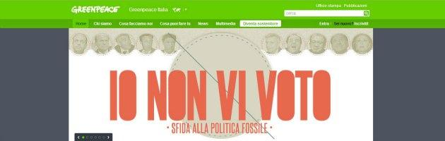 Greenpeace Io non vi voto