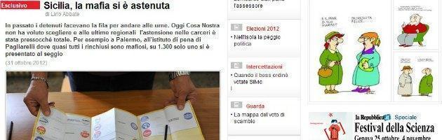 """Elezioni Sicilia, L'Espresso: """"Seggi deserti nelle carceri, la mafia si è astenuta"""""""