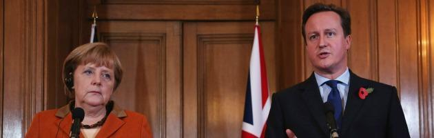 Merkel e Cameron