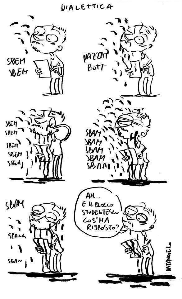 La vignetta di Natangelo sugli scontri