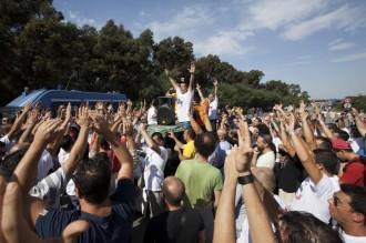 Ilva, protesta del Comitato Liberi e Pensanti
