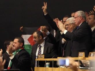 Abu Mazen dopo la votazione all'assemblea generale delle Nazioni unite su Palestina