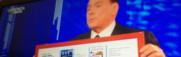 """Berlusconi show su Canale 5: """"Vi garantisco, abolirò l'Imu"""" (video)"""