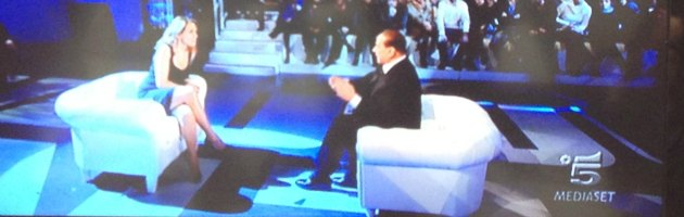 Berlusconi e D'Urso a Domenica Live