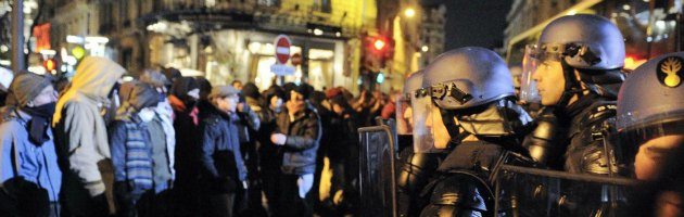 Tav, protesta al vertice di Lione: spray urticante sui dimostranti