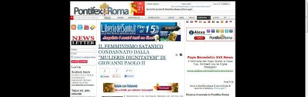 Pontifex sul femminicidio