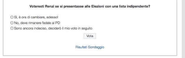 """""""Voteresti una lista Renzi?"""". Giallo in rete sul sito che sconfessa le primarie"""
