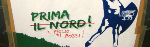"""Imbrattata sede della Lega Nord a Piacenza: """"Siete tutti ladri"""" (foto)"""