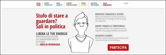 Elezioni 2013, Monti in campagna elettorale. E arrivano i web alfieri