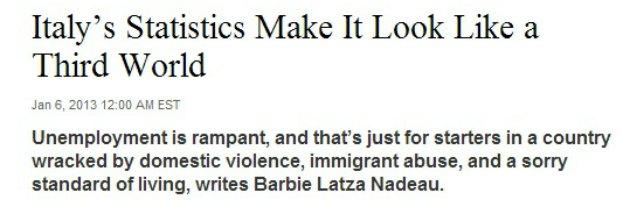 """Donne e lavoro, Newsweek: """"L'Italia? Paese del Terzo mondo"""""""