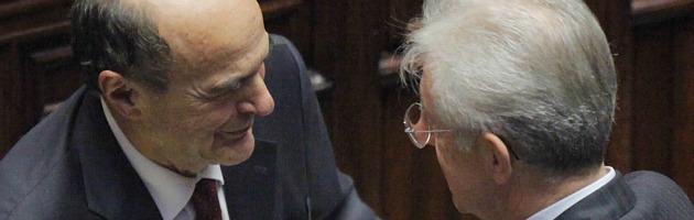 Pierluigi Bersani e Mario Monti