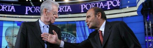 Mario Monti e Bruno Vespa a Porta a Porta