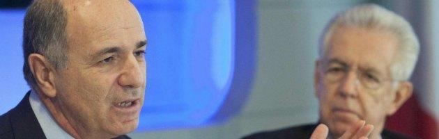 Corrado Passera e Mario Monti