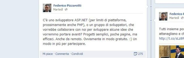 """Pizzarotti cerca informatico gratis per il Comune. Ironia sul web: """"Il lavoro si paga"""""""