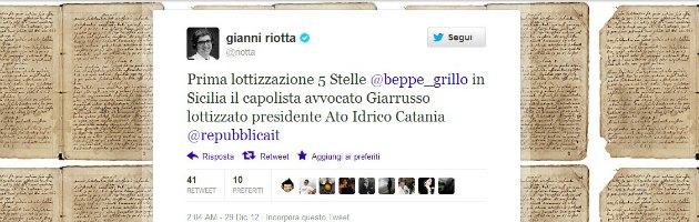 Sicilia, candidato 5 Stelle querela Gianni Riotta. Per un tweet