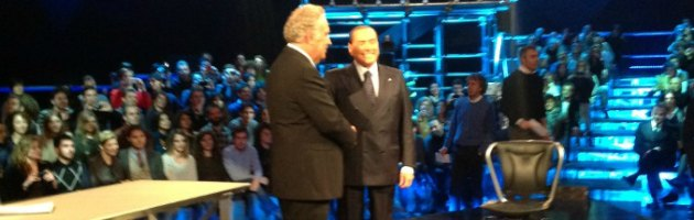 Santoro e Berlusconi a Servizio Pubblico