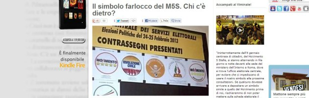 """Elezioni, presentato simbolo identico a quello di M5S. Grillo: """"Farlocco"""""""