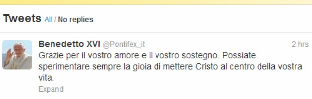 Dimissioni Papa, l'ultimo scritto è un tweet. Collegio Cardinalizio gestirà Sede Vacante