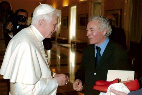 Papa con artigiano Stefanelli