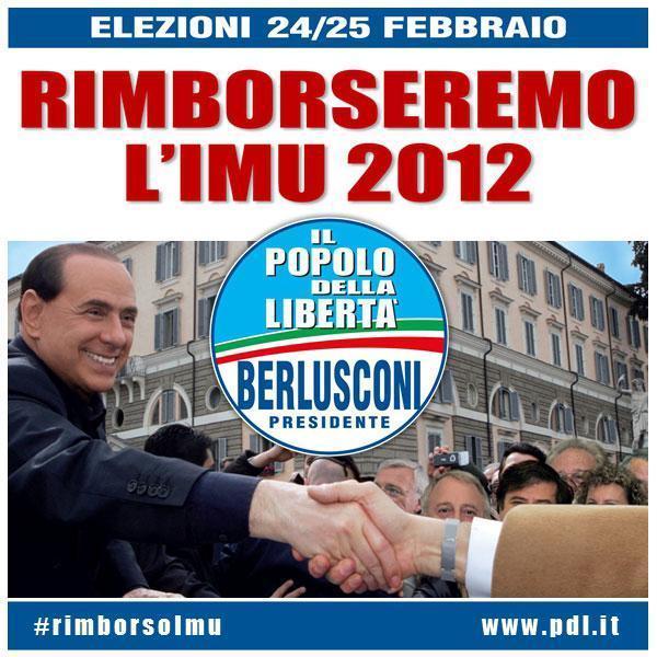 Pdl, Berlusconi rimborso Imu
