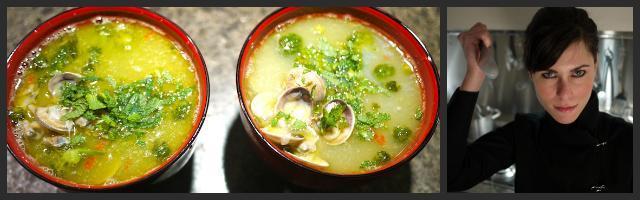 Le ricette di Alessia Vicari: zuppa di vongole, broccoletti e San Valentino