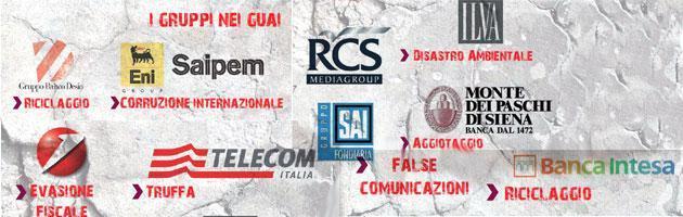 Finmeccanica, Montepaschi, Eni-Saipem: il capitalismo malato in tribunale