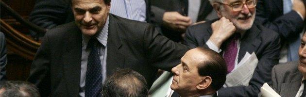 Pierluigi Bersani e Silvio Berlusconi