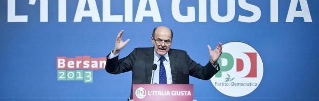 """Elezioni 2013, Bersani: """"Conflitto d'interessi tra le prime leggi da approvare"""""""