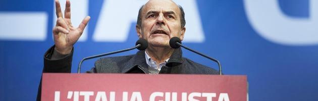 """Elezioni, Bersani: """"Ok convergenze, ma escludo grandi coalizioni e ritorno al voto"""""""