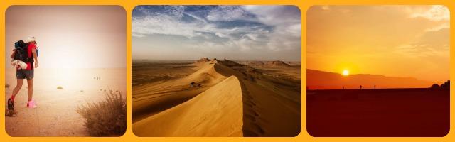 Faccia a faccia con il deserto: sfida solitaria con lo zaino in spalla