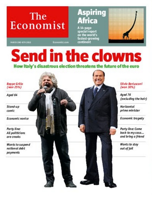 The Economist - Copertina clown