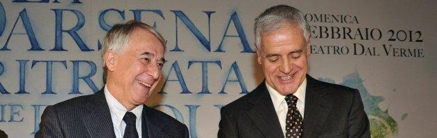 Roberto Formigoni e Giuliano Pisapia
