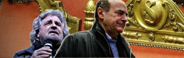 """Elezioni, Grillo: """"Bersani morto che parla, nessuna fiducia"""". Lui: """"Me lo dica in Aula"""""""