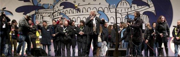 Beppe Grillo a Piazza San Giovanni