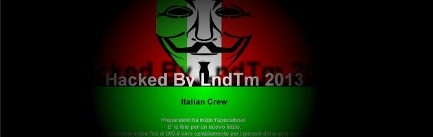Tribunale di Milano, attacco hacker al sito col volto tricolore di Guy Fawkes