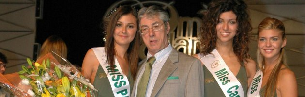 Miss Padania e Umberto Bossi