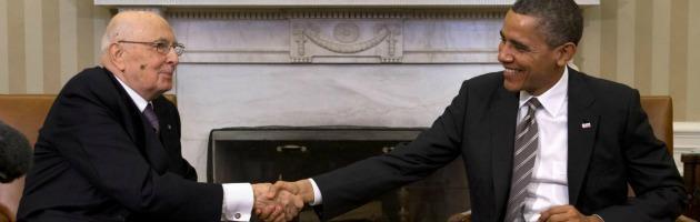 Giorgio Napolitano e Barack Obama