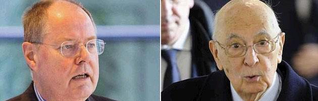 """Napolitano in Germania. Grillo: """"Oggi è il mio presidente"""". Il Colle """"apprezza"""""""