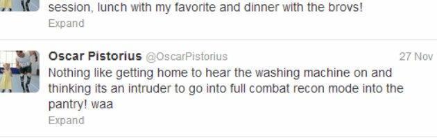 Pistorius, quello strano tweet e la passione per le armi